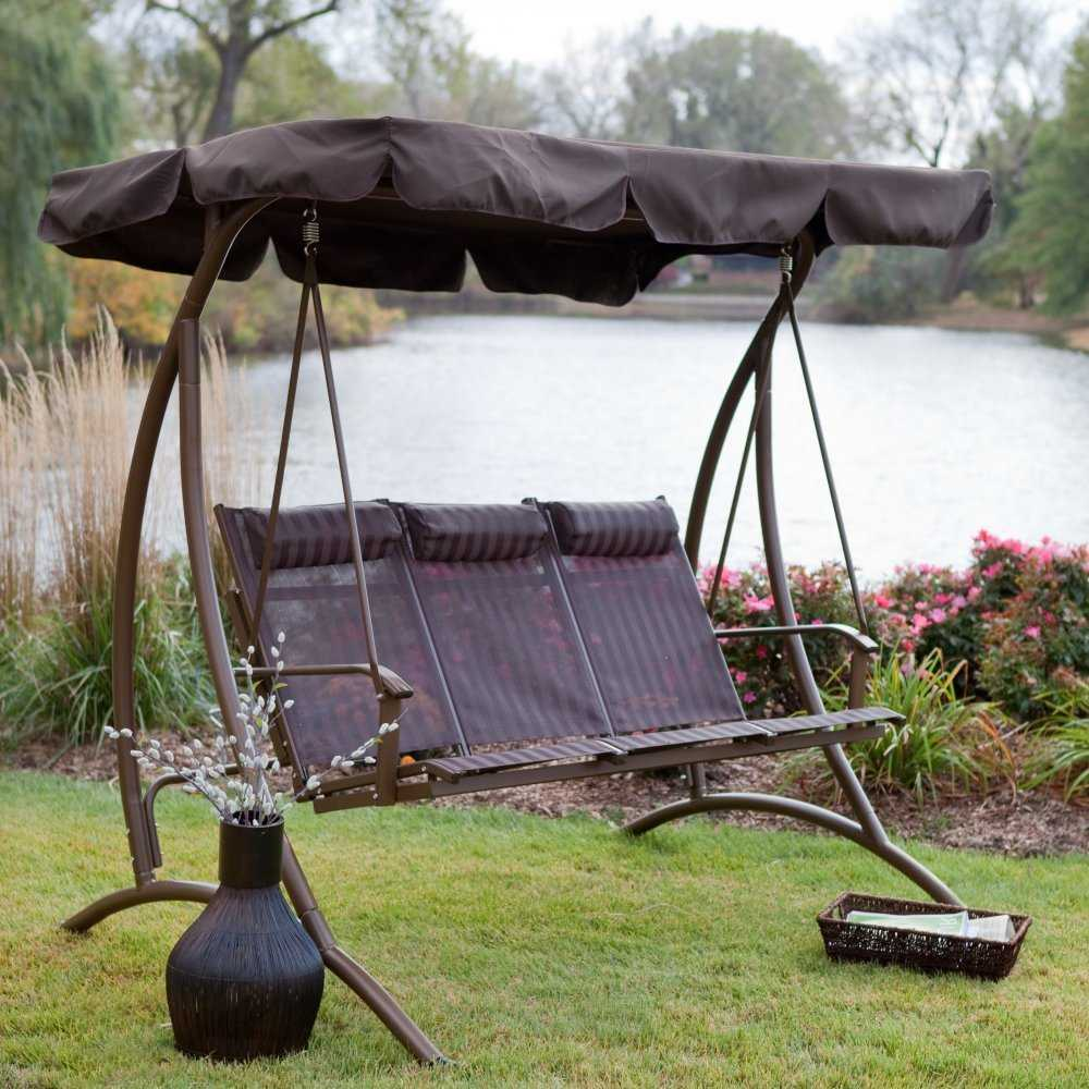 patio swing with canopy 9 Cool and Cozy Patio Swing with Canopy Designs   CanopyKingpin.com patio swing with canopy