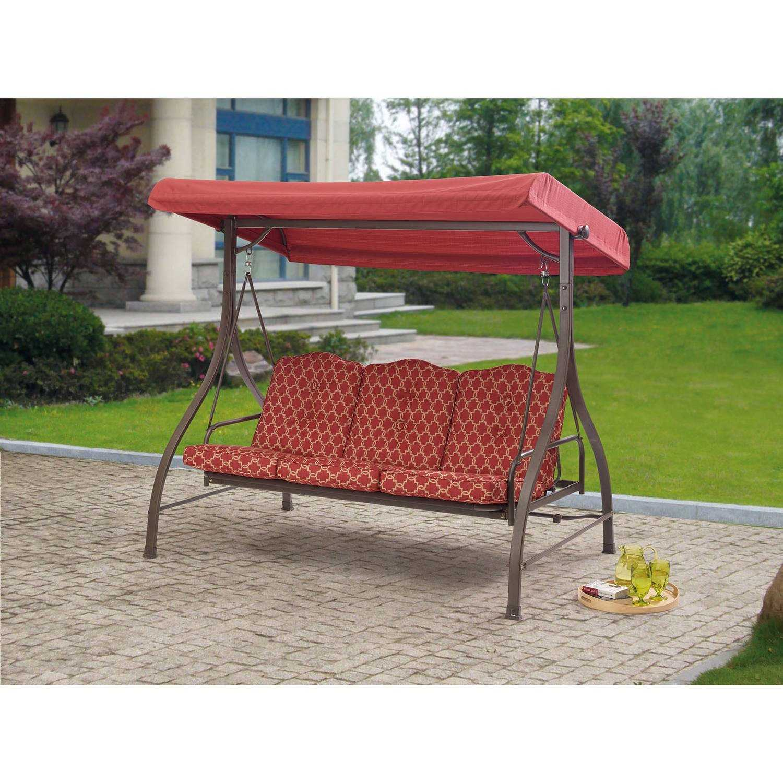 garden treasures 3 seat steel casual porch swing garden ftempo