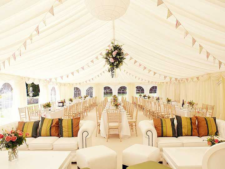 how to do draping in a tent